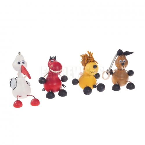 Drewniane zabawki na sprężynce