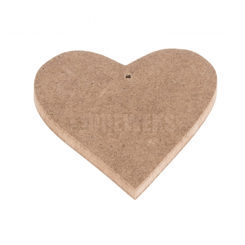 Heart cut-out 70mm - MDF material/ with hole