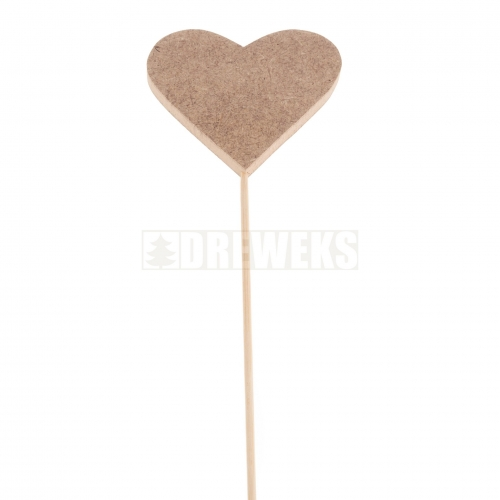 Heart cut-out 70mm - MDF material/ on stick