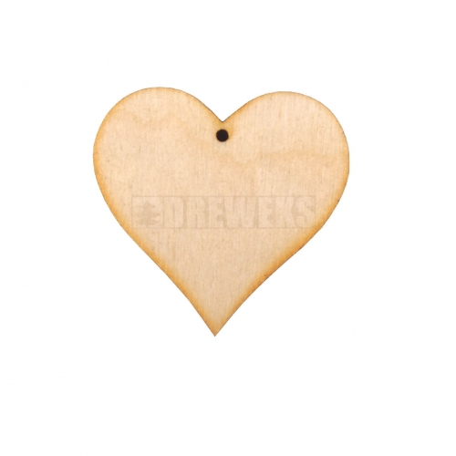 Heart cut-out 60mm - plywood