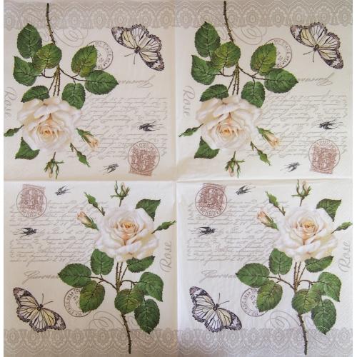 Serwetka - kwiatki