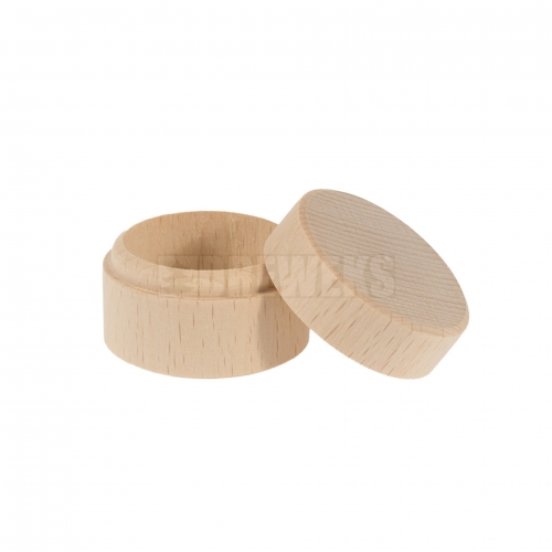 Box for rings/ earrings - round