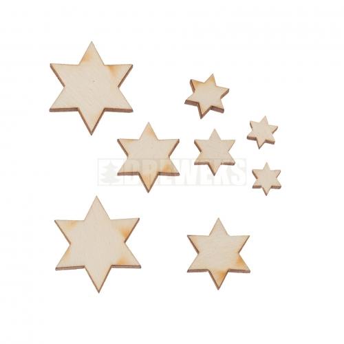 Zestaw gwiazdek duży 8szt.
