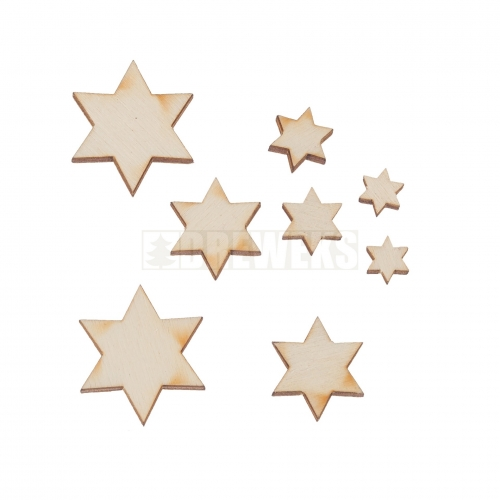 Set of big stars - different sizes