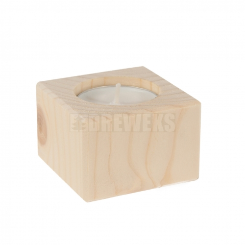 Candlestick vertical 4cm - pine - second quality