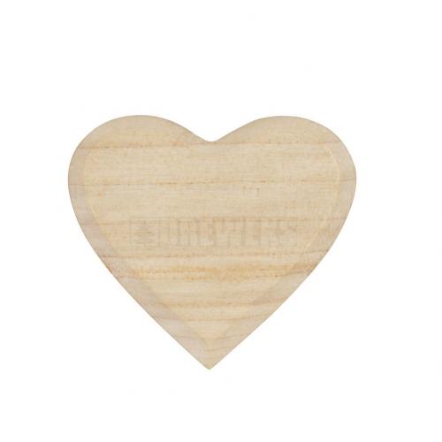 Serce drewniane - 3,5 cm
