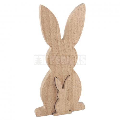 Drewniany królik średni