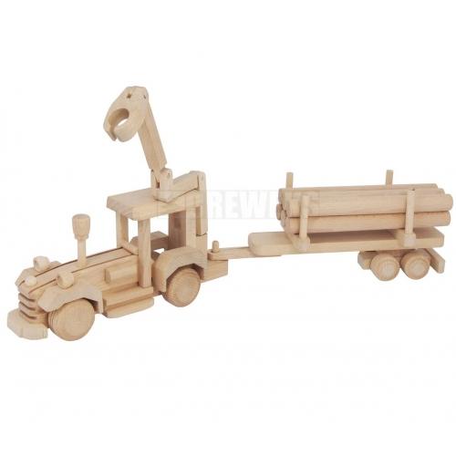 Traktor z HDS i drewnem