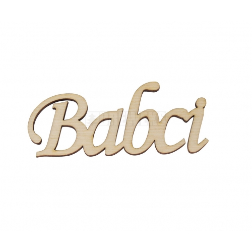 "Inscription ""Babci"""