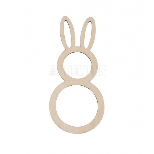 Egg shaped tag - rabbit on swing