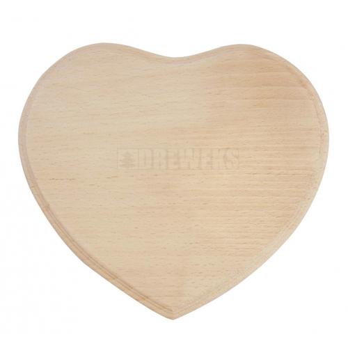 Deska / plakietka serce z dziurką
