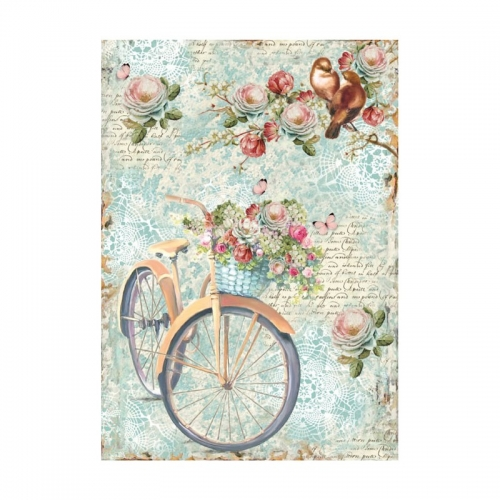 Rice napkin A4 - bike