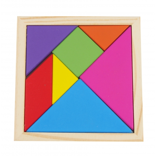 Wooden puzzles, tangram