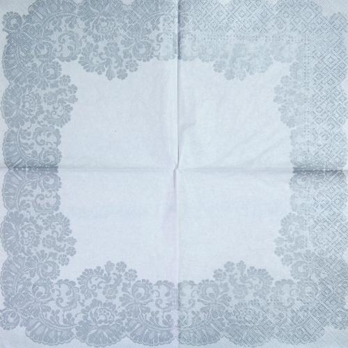 Napkin - white pattern