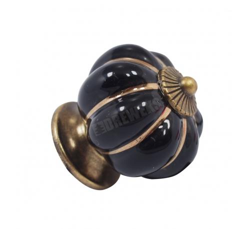 Uchwyt, gałka ceramiczna czarna