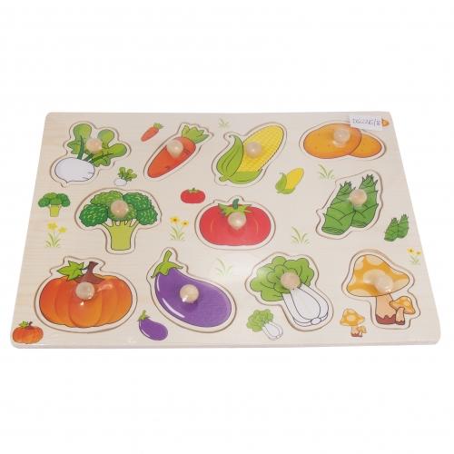 Układanka z kołeczkami - warzywa