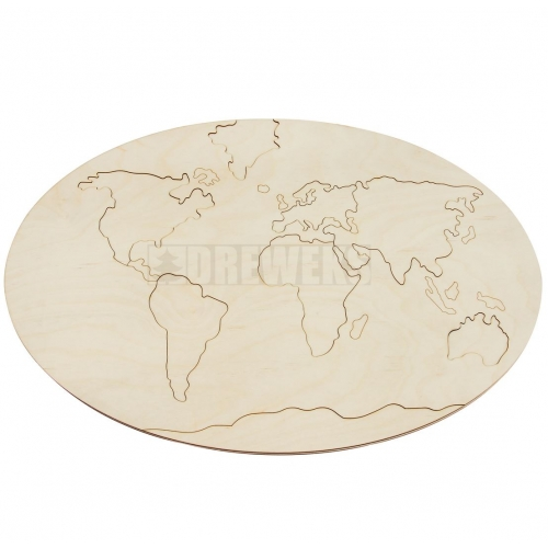 World - wooden map
