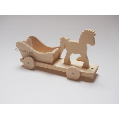 Horse on wheels - beech