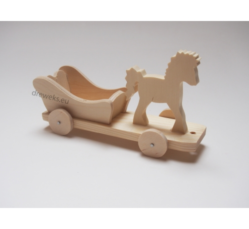 Horse on wheels - beech