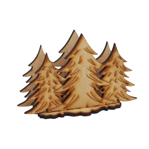 Napkins holder - Christmas trees