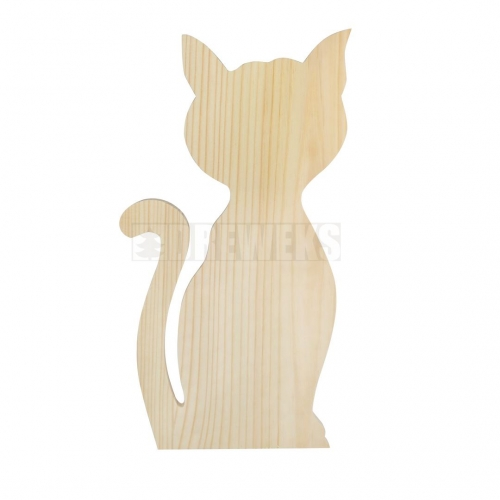 Wooden cat 29 cm