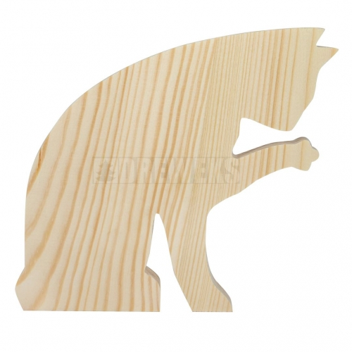 Wooden cat 18 cm