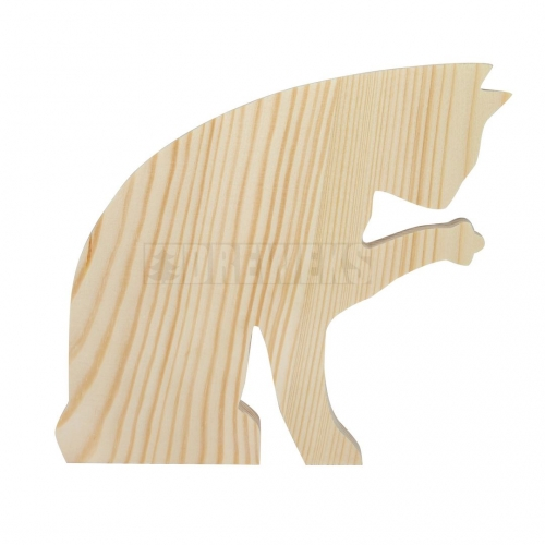Wooden cat 13,5 cm
