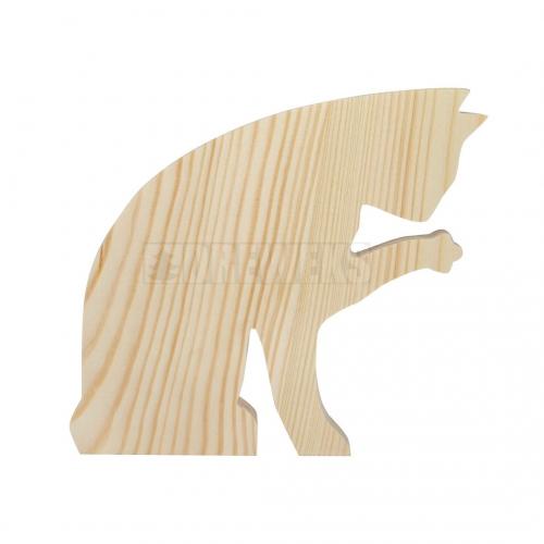 Wooden cat 10,5 cm