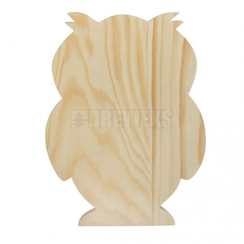 Sowa drewniana 23 cm