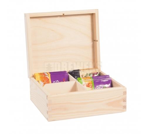 Tea box - 4 compartments