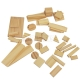 Set of wooden blocks