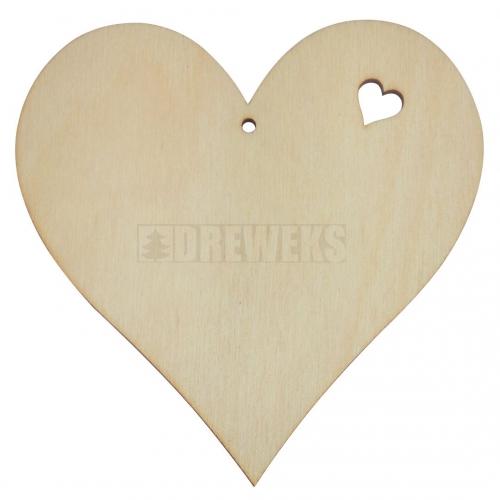 Serce 10cm z wyciętym serduszkiem