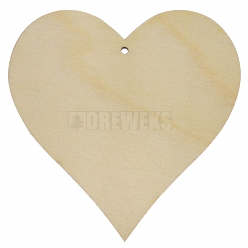 Heart cut-out 100mm - plywood