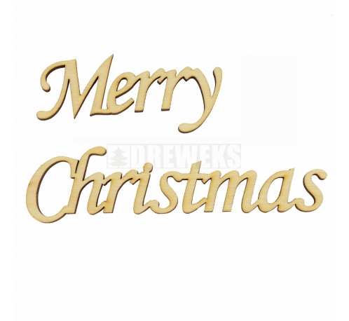 "Inscription ""Merry Christmas"""