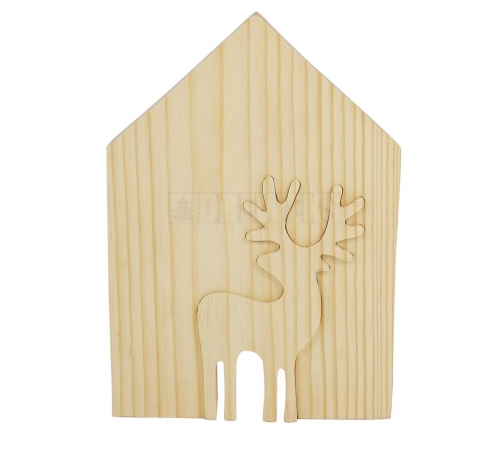 Cottage with a reindeer