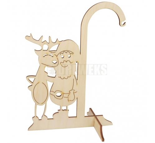 Glass ball stand - reindeer and Santa Claus