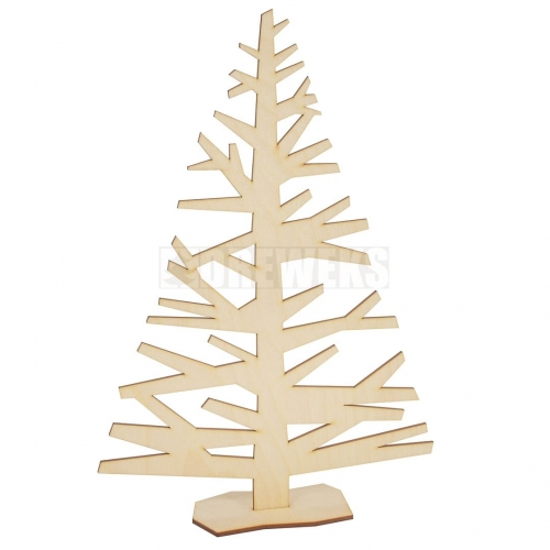 Christmas tree with wooden stand
