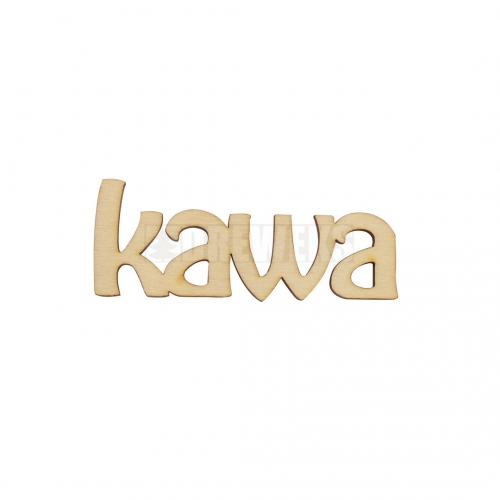 "Inscription ""kawa"""