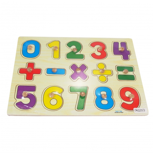 Colored pegs - numbers