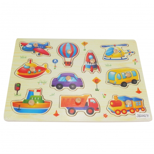 Colored pegs - vehicles
