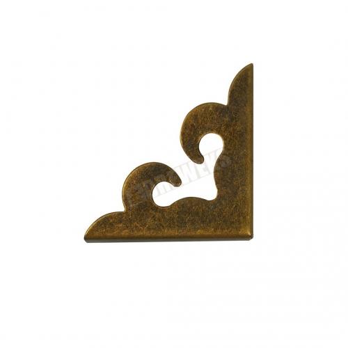 Corner - 2,8 cm dark brass