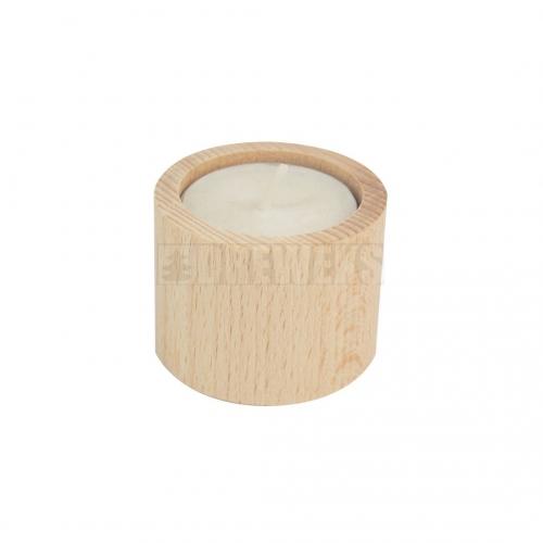 Candlestick circle 4cm - beech