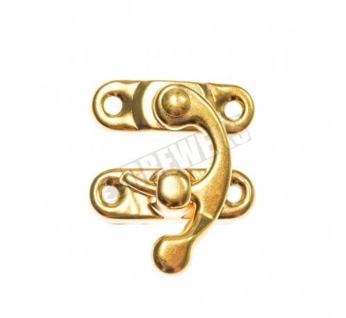 Lock with hook - golden