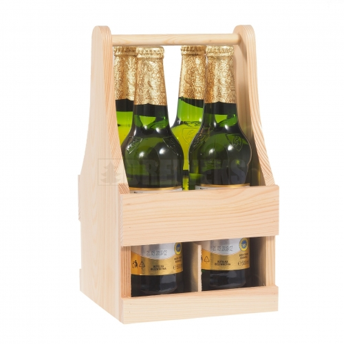 Bottle carrier for 4 bottles