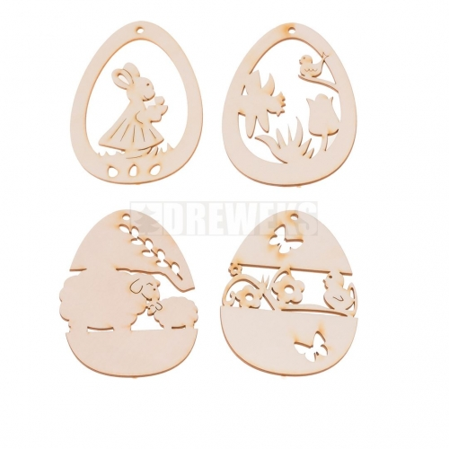 Egg shaped chicken - set of 5 pcs