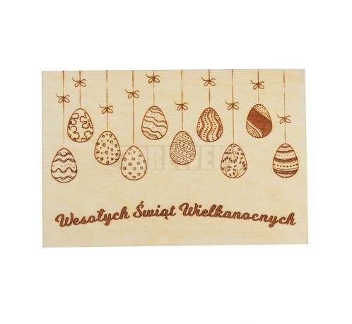Wielkanocna kartka z pisankami