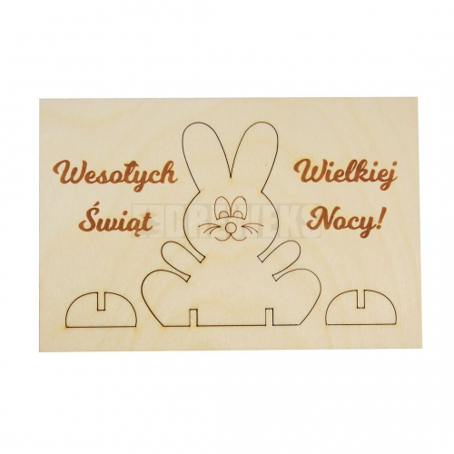 Easter card with a rabbit