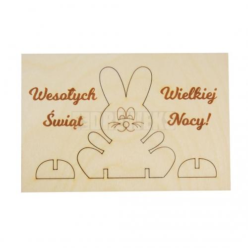 Wielkanocna kartka z królikiem