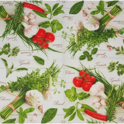 Serwetka - warzywa