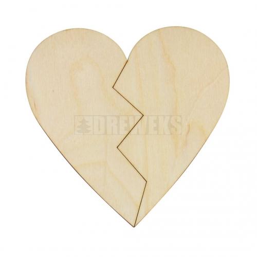 Heart 12cm - halves